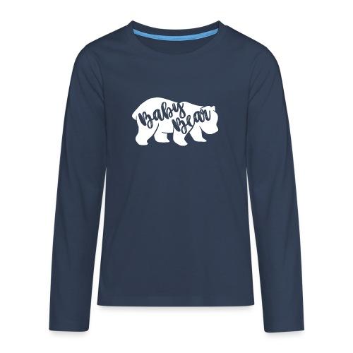 Baby Bear - für Eltern-Baby-Partnerlook - Teenager Premium Langarmshirt