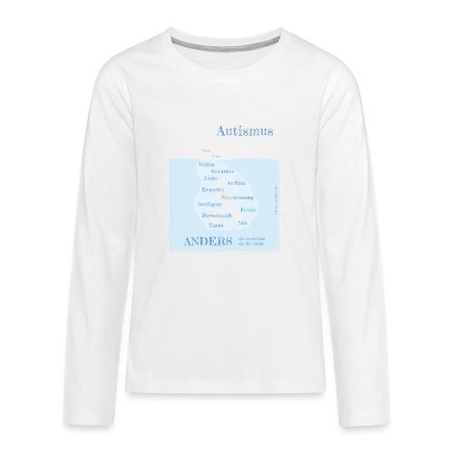 Autismus - anders als man denkt - Teenager Premium Langarmshirt
