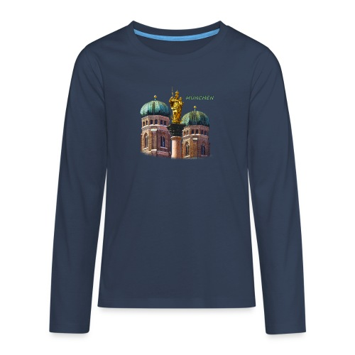 München Frauenkirche - Teenager Premium Langarmshirt