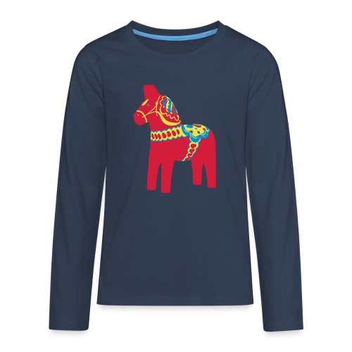 Dalahäst Dalecarlian Horse Dala-Pferd. Schweden - Teenager Premium Langarmshirt