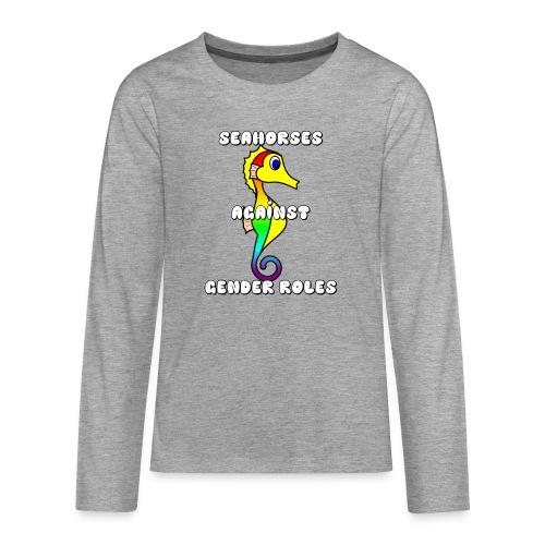 Seahorses against gender roles - Teenagers' Premium Longsleeve Shirt