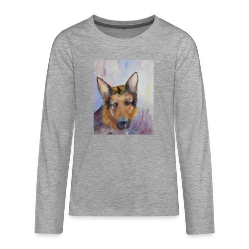 german shepherd wc - Teenager premium T-shirt med lange ærmer