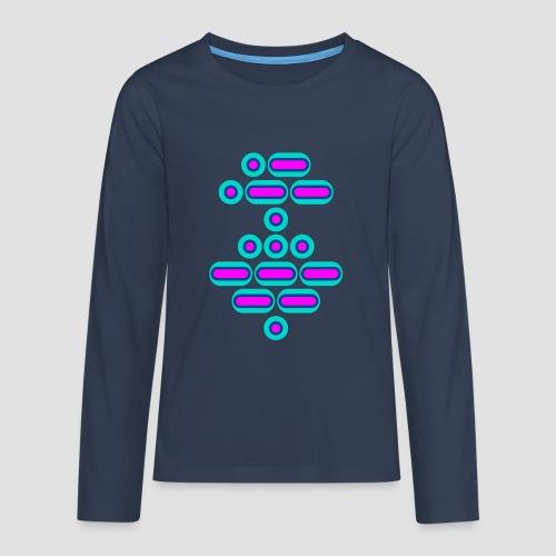 AWESOME (pink/blue) - Teenagers' Premium Longsleeve Shirt