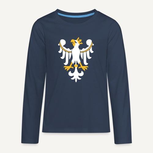 Orzeł Piastowski - Koszulka Premium z długim rękawem dla nastolatków