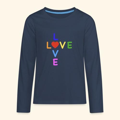 Rainbow Love. Regenbogen Liebe - Teenager Premium Langarmshirt