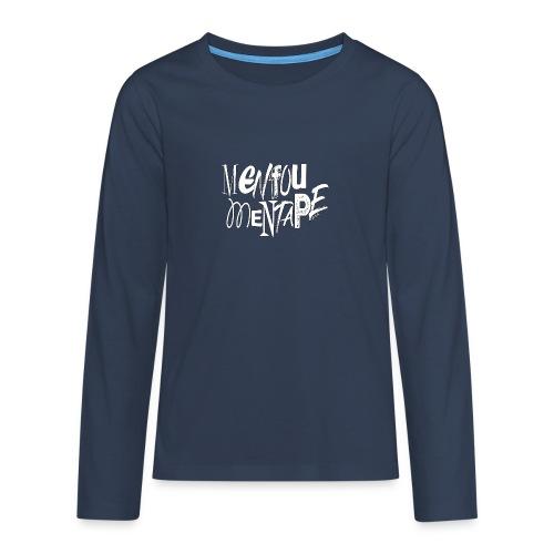 MENFOUMENTAPE blanc et noir by Alice Kara - T-shirt manches longues Premium Ado
