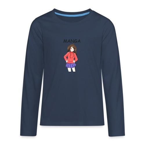 Anime girl 02 Text Manga - Teenager Premium Langarmshirt