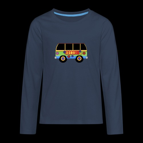 GROOVY BUS - Teenagers' Premium Longsleeve Shirt