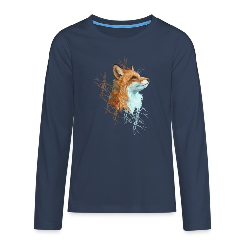 Happy the Fox - Teenager Premium Langarmshirt