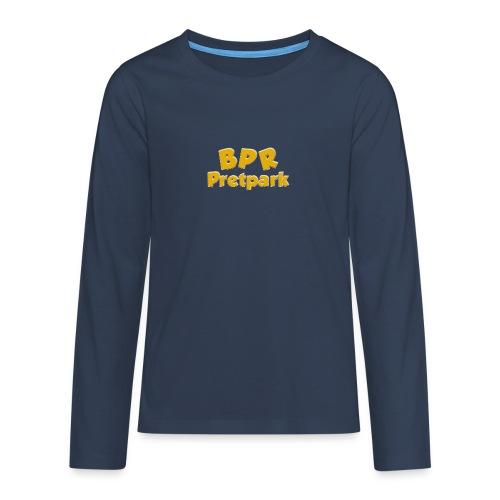 BPR Pretpark logo - Teenager Premium shirt met lange mouwen