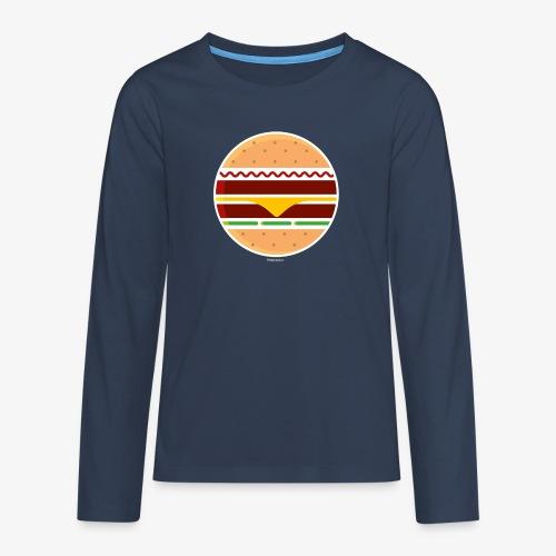 Circle Burger - Maglietta Premium a manica lunga per teenager