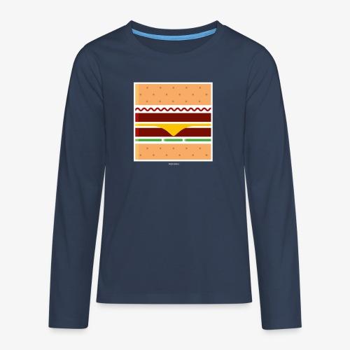 Square Burger - Maglietta Premium a manica lunga per teenager