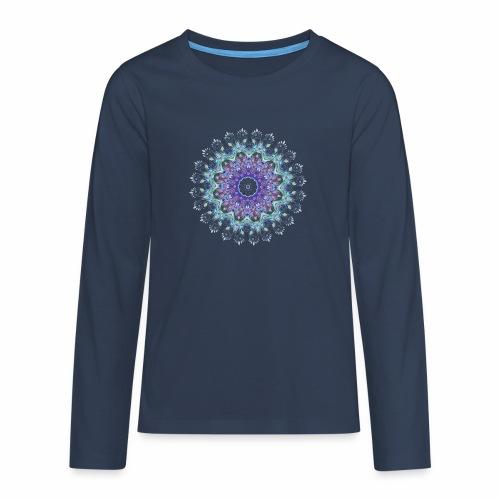 Lilla mandala pastel - Teenager premium T-shirt med lange ærmer