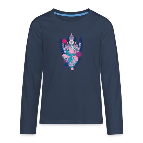 Ganesha dein Glücksgott macht den WEG frei - Teenager Premium Langarmshirt