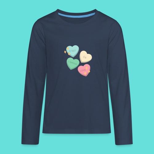 C'est ça l'amour, love - T-shirt manches longues Premium Ado