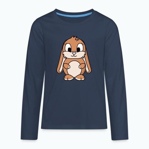 Lily Bunny - Appelsin - Långärmad premium T-shirt tonåring