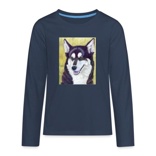 Siberian husky - Teenager premium T-shirt med lange ærmer