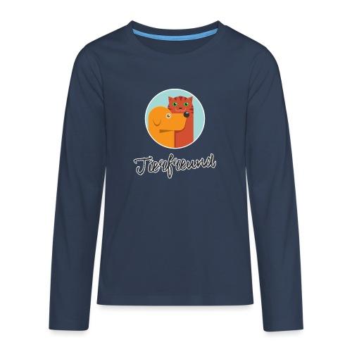 Tierfreund mit Schriftzug - Teenager Premium Langarmshirt