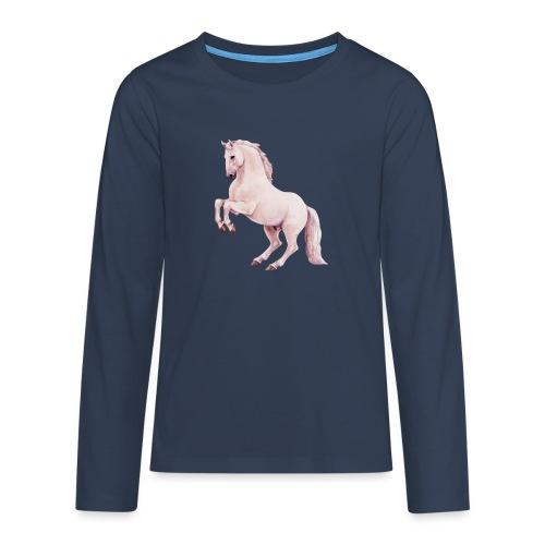 White stallion - Teenager Premium Langarmshirt
