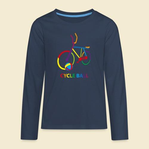 Radball | Cycle Ball Rainbow - Teenager Premium Langarmshirt