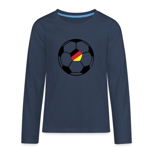 fussball deutschland - Teenager Premium Langarmshirt