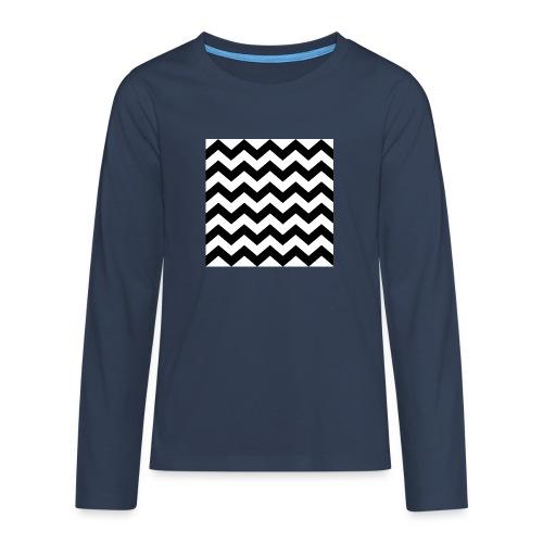 zigzag png - T-shirt manches longues Premium Ado