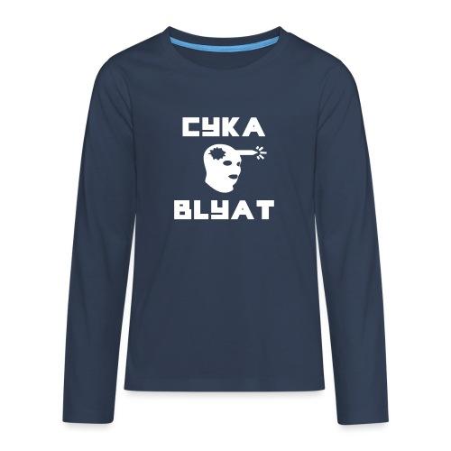 CYKA_BLYAT-png - Teenagers' Premium Longsleeve Shirt