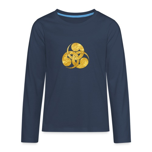 Tadpole Mon Japanese samurai clan - Teenagers' Premium Longsleeve Shirt