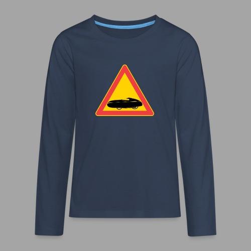 Traffic sign velomobile - Teinien premium pitkähihainen t-paita