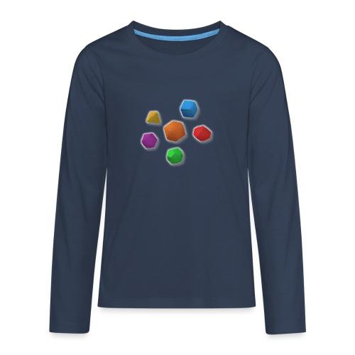 PolyDicePin - Teenagers' Premium Longsleeve Shirt