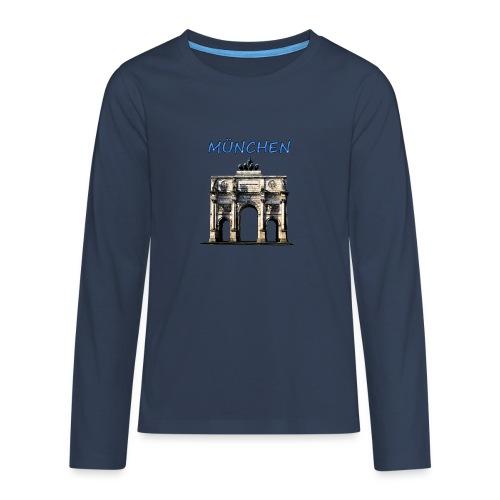 Münchnen Siegestor - Teenager Premium Langarmshirt