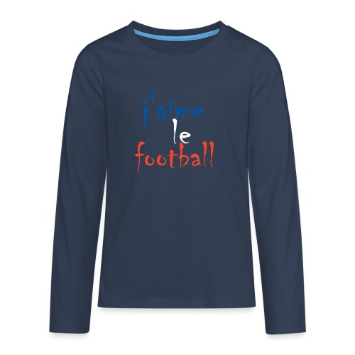 j' aime le football - Teenager Premium Langarmshirt