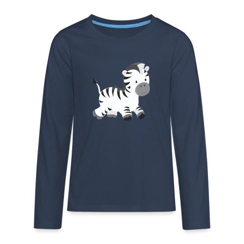 Zebra - Teenager Premium Langarmshirt