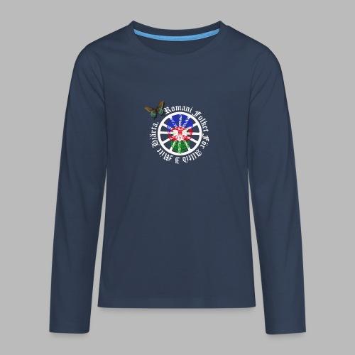 LennyhjulRomaniFolketivitfjerliskulle - Långärmad premium T-shirt tonåring