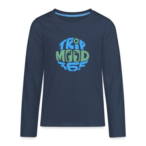 TRIPMOOD365 Traveler Clothes and Products- Colors - Teinien premium pitkähihainen t-paita