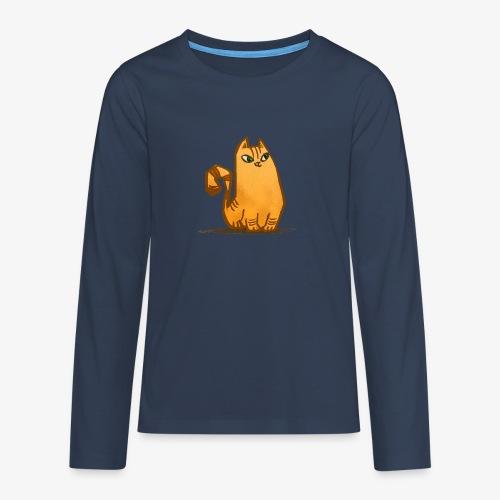 Katt - Långärmad premium T-shirt tonåring
