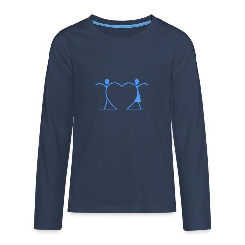 Tenersi per mano, andare lontano.... LIGHT BLUE - Maglietta Premium a manica lunga per teenager