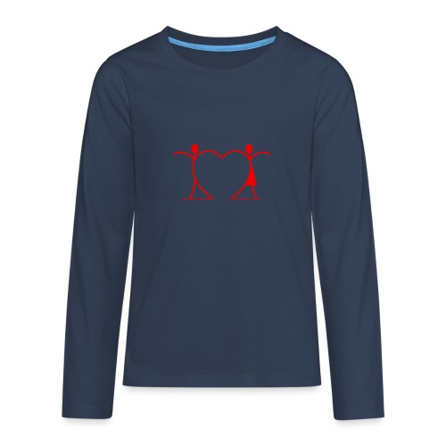 Tenersi per mano, andare lontano.... RED - Maglietta Premium a manica lunga per teenager