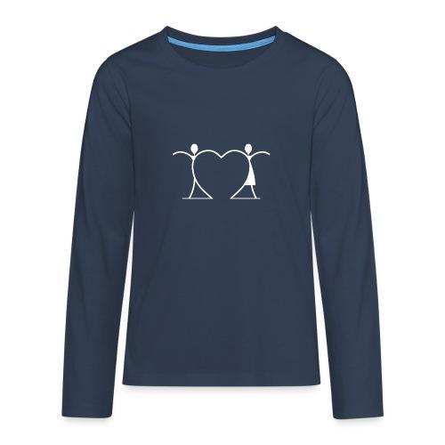 Tenersi per mano, andare lontano.... WHITE - Maglietta Premium a manica lunga per teenager