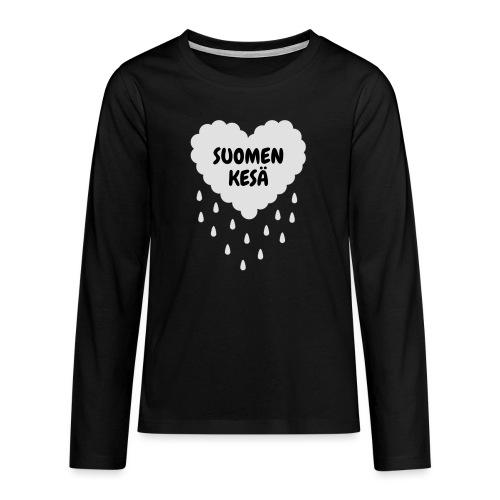 Suomen kesä - Teinien premium pitkähihainen t-paita