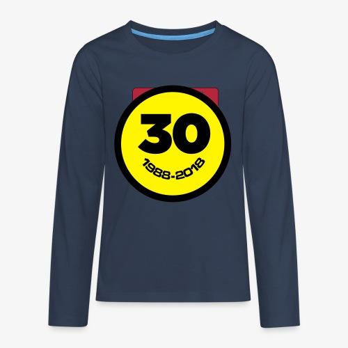 30 Jaar Belgian New Beat Smiley - Teenager Premium shirt met lange mouwen