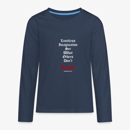 Limitless Imagination Wit - Teenager Premium shirt met lange mouwen