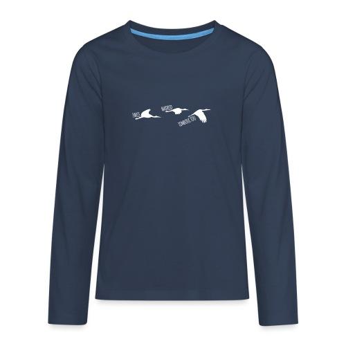 3 horizons oiseaux white - T-shirt manches longues Premium Ado