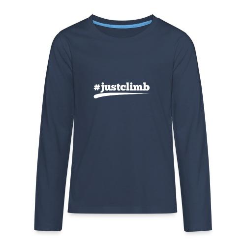 #JUSTCLIMB - Teenager Premium Langarmshirt