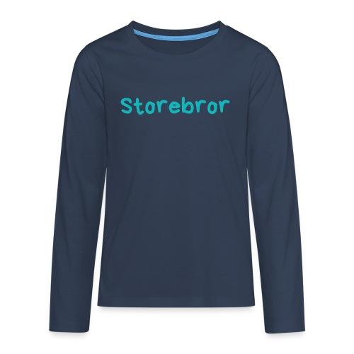 Storebror - Premium langermet T-skjorte for tenåringer