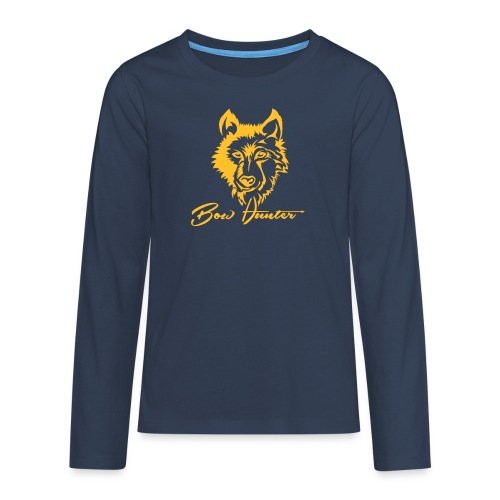 Wolf - Teenager Premium Langarmshirt