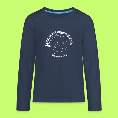 Mäxchen Logo weiß - Teenager Premium Langarmshirt