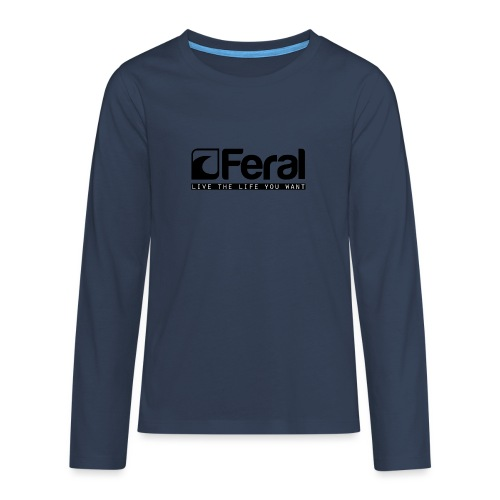 Feral Surf - Live the Life - Black - Teenagers' Premium Longsleeve Shirt