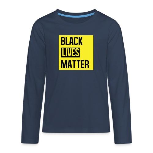 Black Lives Matter (yellow) - Teenager Premium shirt met lange mouwen