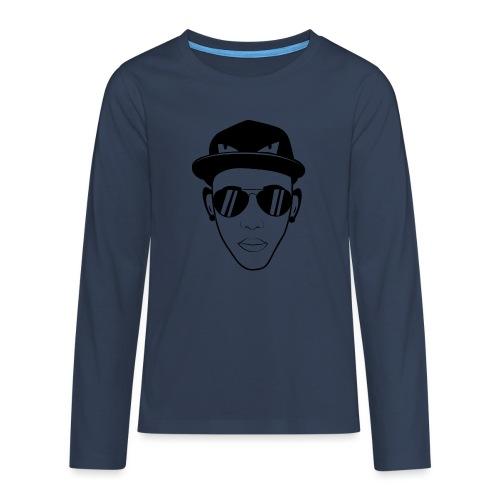 adhex cara - Camiseta de manga larga premium adolescente